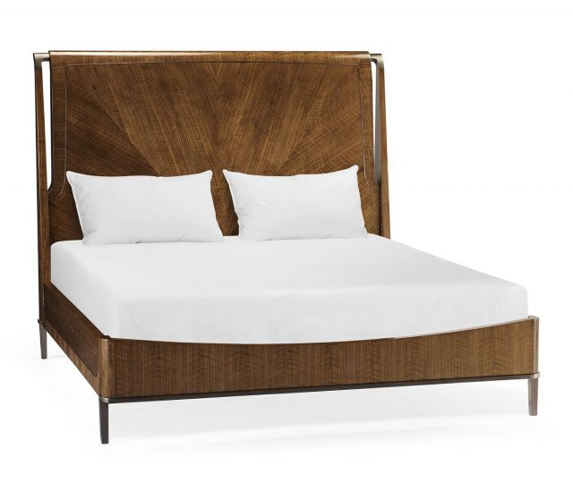 Jonathan Charles Garonne Walnut King Bed