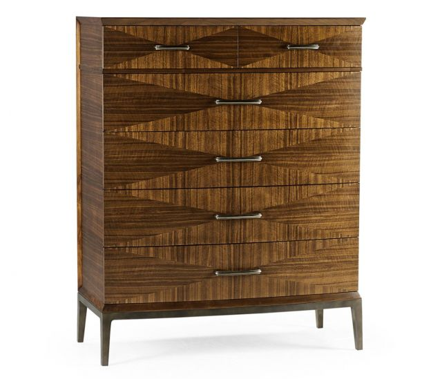 Jonathan Charles Garonne Walnut Tall Chest of Drawers