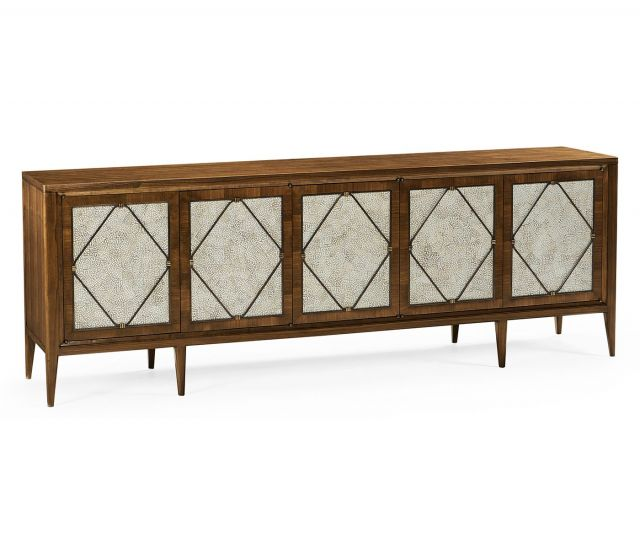 Jonathan Charles Garonne Walnut Entertainment Cabinet