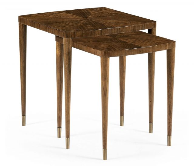 Jonathan Charles Garonne Walnut Nesting Tables
