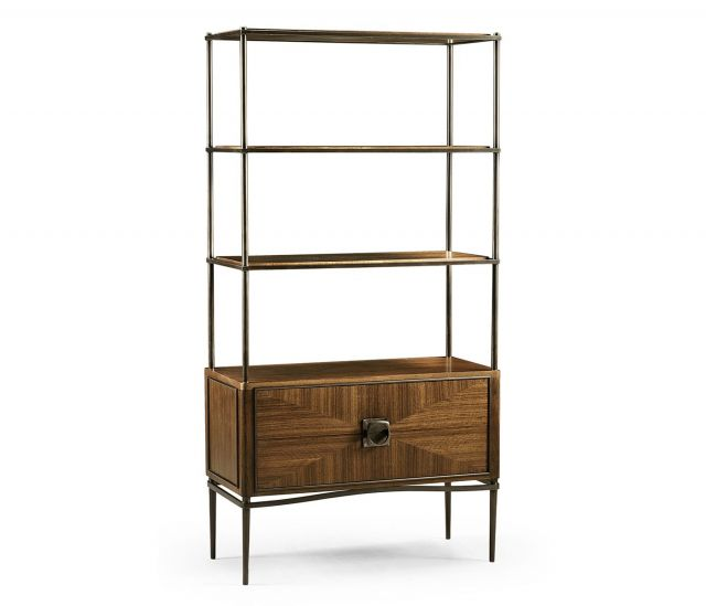 Jonathan Charles Garonne Walnut Open Shelving Unit