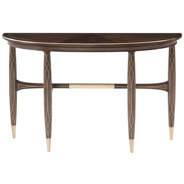 Theodore Alexander Grace Demilune Console Table
