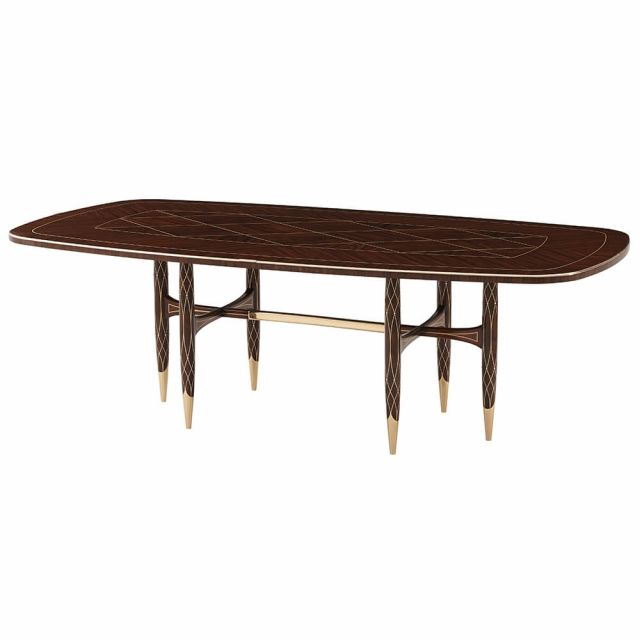 Theodore Alexander Grace Rounded Rectangular Dining Table