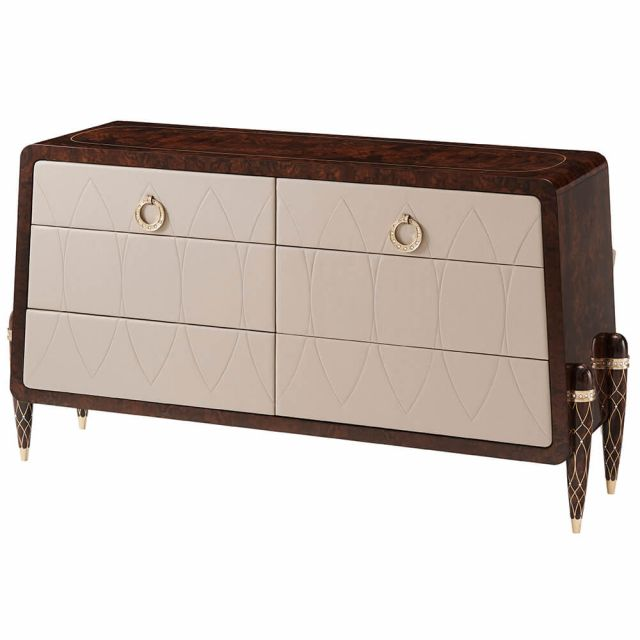 Theodore Alexander Grace Chest of Drawers - Tigers Eye