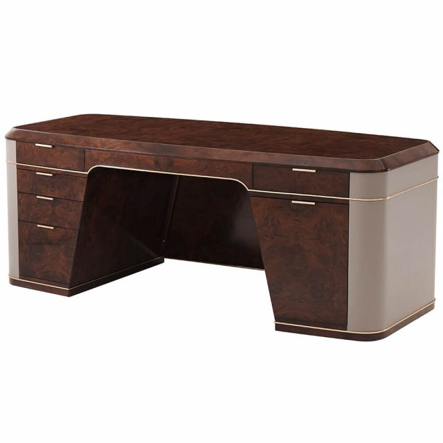 Theodore Alexander Grace Desk - Tigers Eye