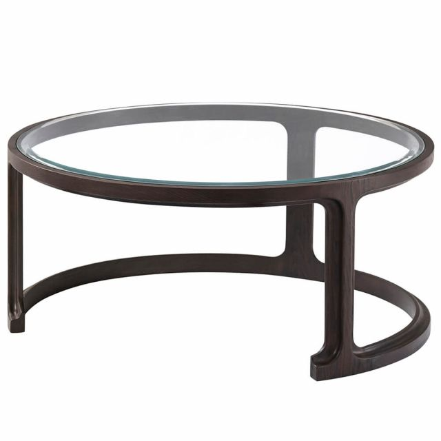 Theodore Alexander Inherit Large Round Glass Coffee Table