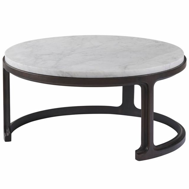 Theodore Alexander Inherit Round Marble Coffee Table - Large