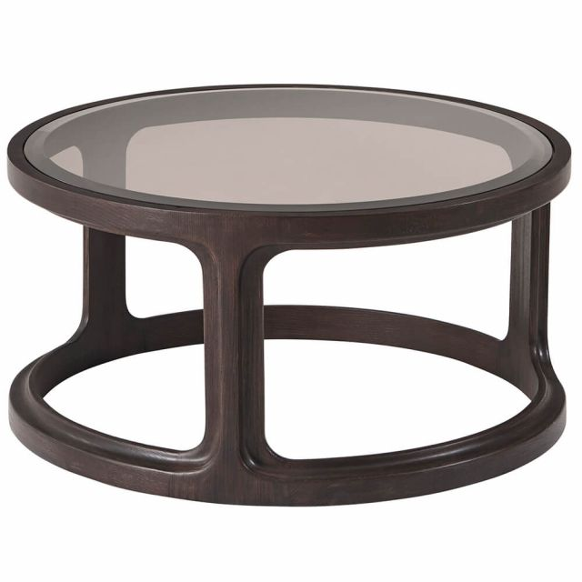 Theodore Alexander Inherit Round Glass Coffee Table - Small